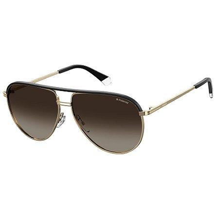 Óculos de Sol Polaroid PLD 2089/S/X/61 Marrom - Dourado - Polarizado