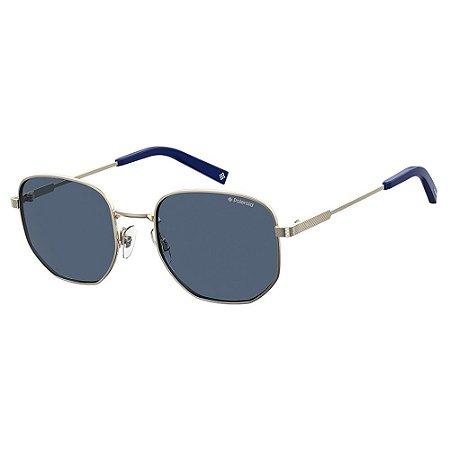 Óculos de Sol Polaroid PLD 2081SX - Dourado - Polarizado