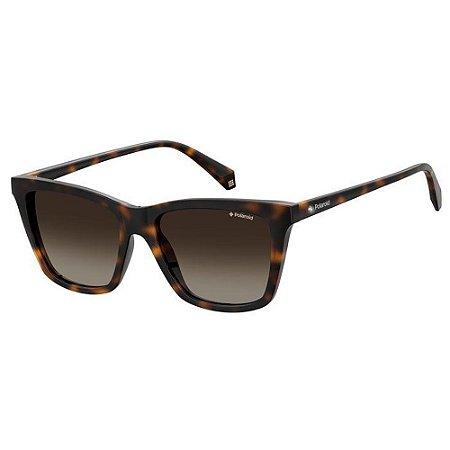 Óculos de Sol Polaroid PLD 4081S - Marrom - Polarizado