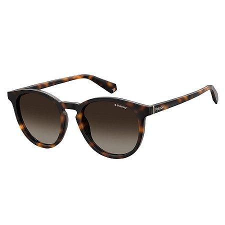 Óculos de Sol Polaroid PLD 6098S - Marrom - Polarizado
