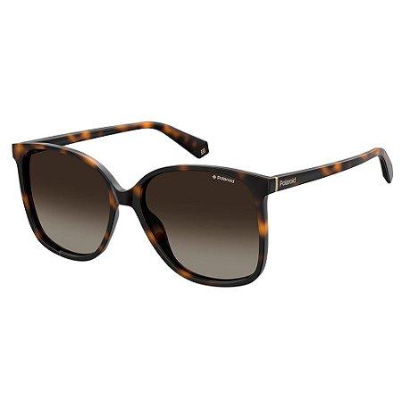 Óculos de Sol Polaroid PLD 6096S - Marrom - Polarizado