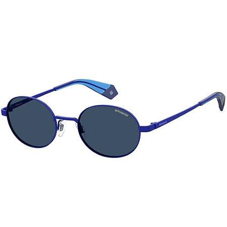 Óculos de Sol Polaroid PLD 6066/S/51 Azul - Polarizado