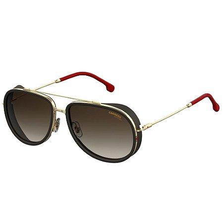 Óculos de Sol Carrera Sole CA 166/S/59 - Dourado - Vermelho
