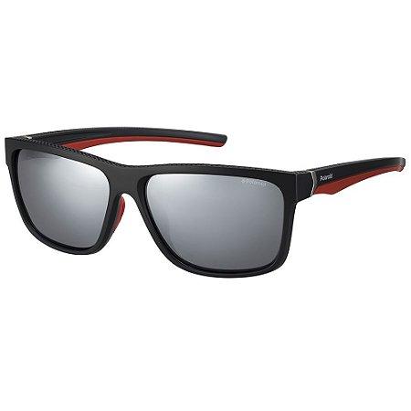 Óculos de Sol Polaroid Sport PLD 7014/S/59 Preto - Polarizado