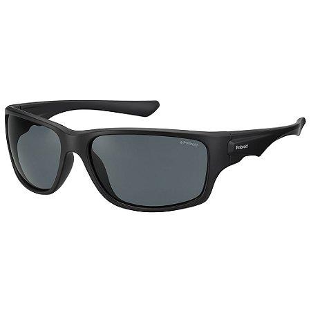 Óculos de Sol Polaroid Sport PLD 7012/S/63 Preto - Polarizado