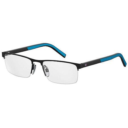 Óculos de Grau Tommy Hilfiger TH 1594/55 - Azul Fosco