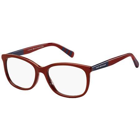 Óculos de Grau Tommy Hilfiger TH 1588/50 - Vermelho