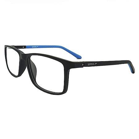 Óculos de Grau Speedo SP7016 A01 - Preto Fosco
