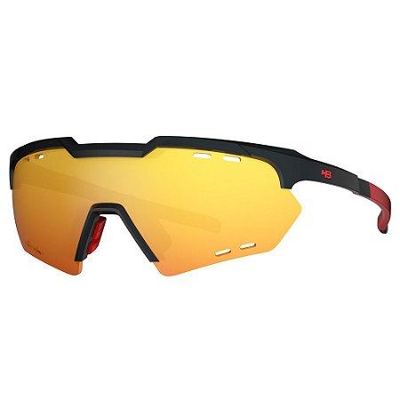 Óculos de Sol HB Shield Compact M - Preto / Vermelho