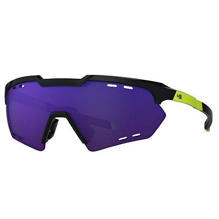 Óculos de Sol HB Shield Compact R - Preto / Amarelo