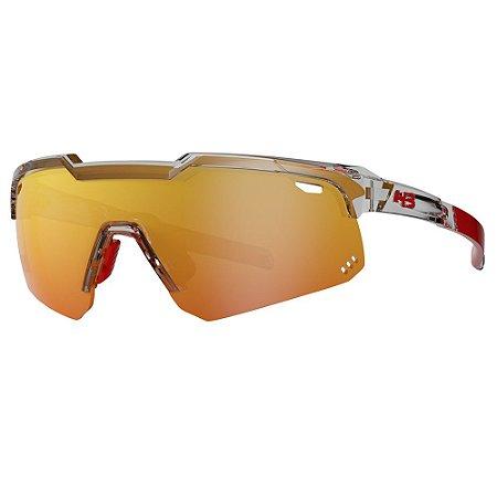 Óculos de Sol HB Shield Evo M - Transparente / Vermelho