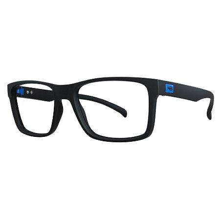 Óculos de Grau HB 0339 - Preto / Azul - Clip On Polarizado