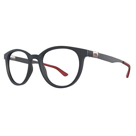 Óculos de Grau HB 0253 - Cinza / Vermelho - Clip On Polarizado