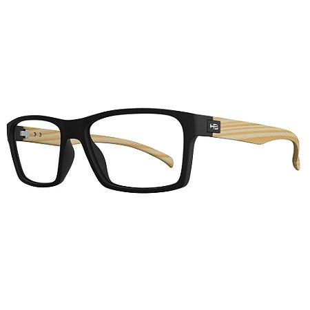 Óculos de Grau HB 93130 - Preto / Madeira