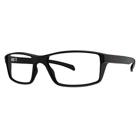 Óculos de Grau HB 93148 - Preto / Vermelho