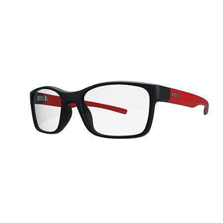 Óculos de Grau HB 93153 Teen - Preto / Vermelho