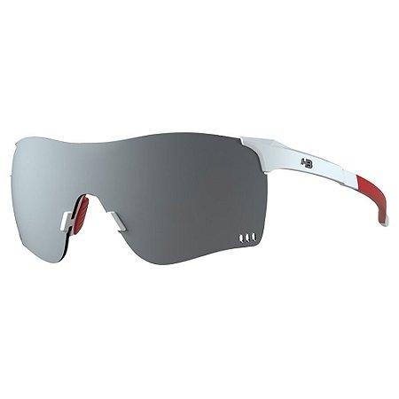 Óculos de Sol HB Quad F - Branco / Vermelho