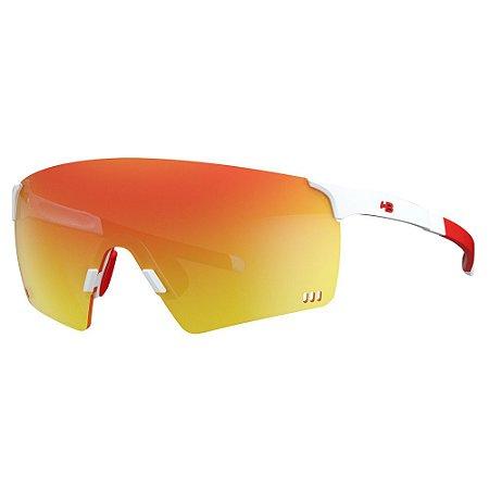 Óculos de Sol HB Quad R - Branco / Vermelho