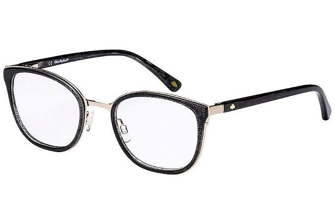 Óculos de Grau Lilica Ripilica VLR116C01/48 Preto/Dourado