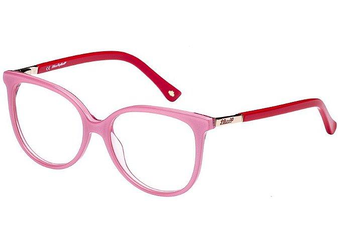 Óculos de Grau Lilica Ripilica VLR097 C05/48 Rosa/Vermelho