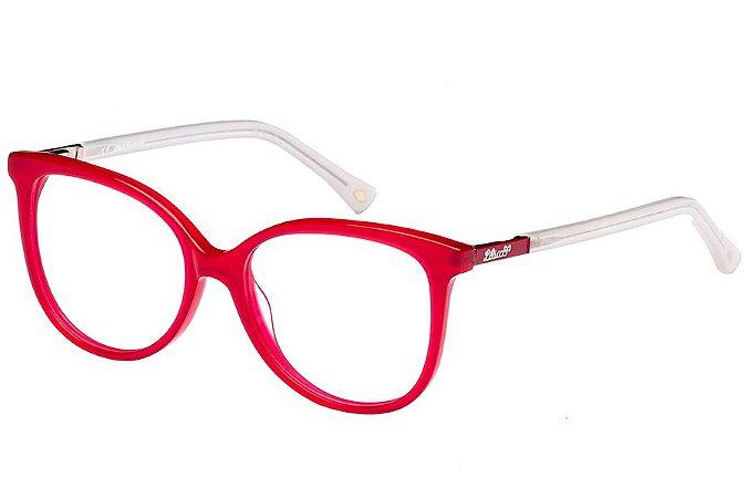 Óculos de Grau Lilica Ripilica VLR097 C02/48 Vermelho/Branco