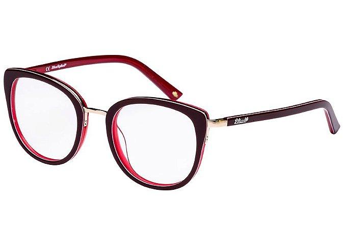 Óculos de Grau Lilica Ripilica VLR095 C04/47 Vermelho
