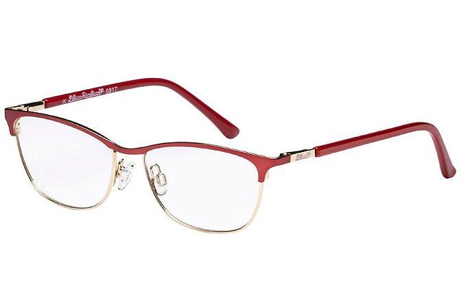 Óculos de Grau Lilica Ripilica VLR091 C3/49 Vermelho