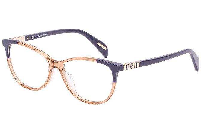 Óculos de Grau Victor Hugo VH1788 AL1Y/53 Nude/Azul