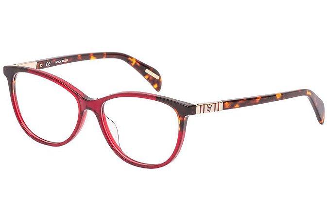 Óculos de Grau Victor Hugo VH1788 897Y/53 Vinho/Tartaruga