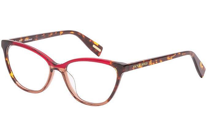 Óculos de Grau Victor Hugo VH1787 897Y/53 Vermelho/Marrom
