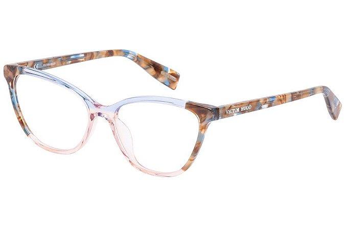 Óculos de Grau Victor Hugo VH1787 800/53 Azul Degradê/Tartaruga
