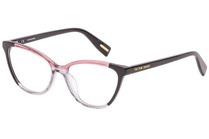 Óculos de Grau Victor Hugo VH1787 01EP/53 Rosa Degradê/Preto