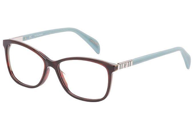 Óculos de Grau Victor Hugo VH1786 06NN/53 Marrom/Azul