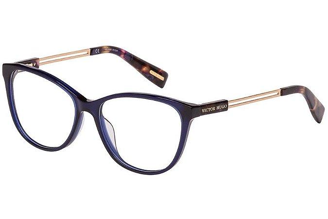 Óculos de Grau Victor Hugo VH1781 892/54 Azul/Dourado