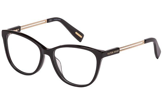Óculos de Grau Victor Hugo VH1781 700/54 Preto/Dourado
