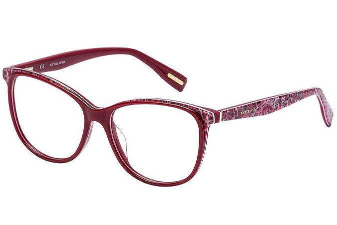 Óculos de Grau Victor Hugo VH1772 0AQ4/53 Vermelho