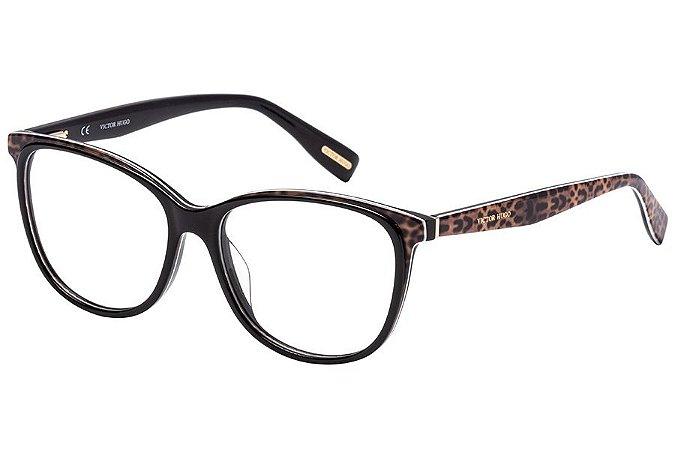 Óculos de Grau Victor Hugo VH1772 0ALF/53 Preto/Oncinha