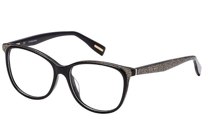 Óculos de Grau Victor Hugo VH1772 09G5/53 Preto/Glitter