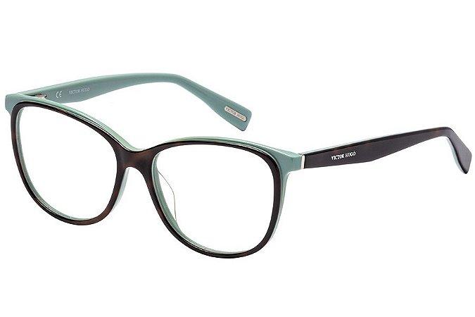 Óculos de Grau Victor Hugo VH1772 01GL/53 Tartaruga/Verde Água