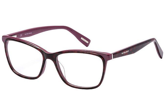Óculos de Grau Victor Hugo VH1771 0T73/54 Tartaruga Roxo