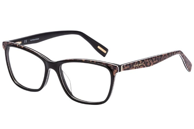 Óculos de Grau Victor Hugo VH1771 0ALF/54 Preto/Oncinha