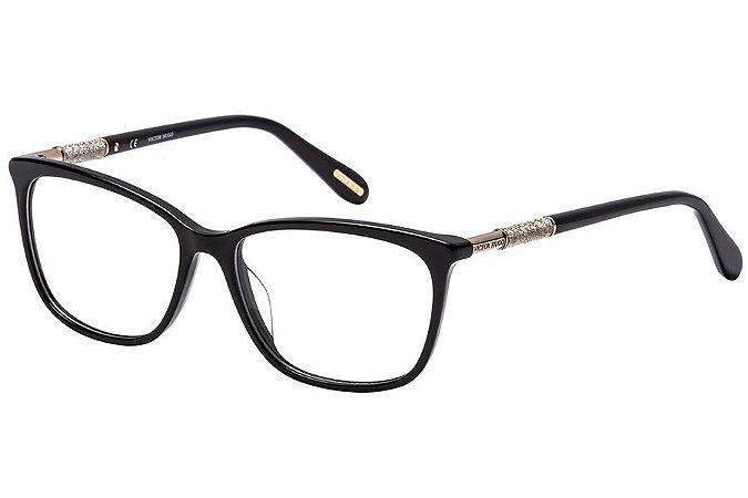 Óculos de Grau Victor Hugo VH1770 700Y/53 Preto/Dourado