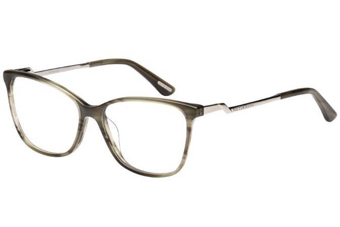Óculos de Grau Victor Hugo VH1765 06DA/54 Cinza Transparente/Mesclado
