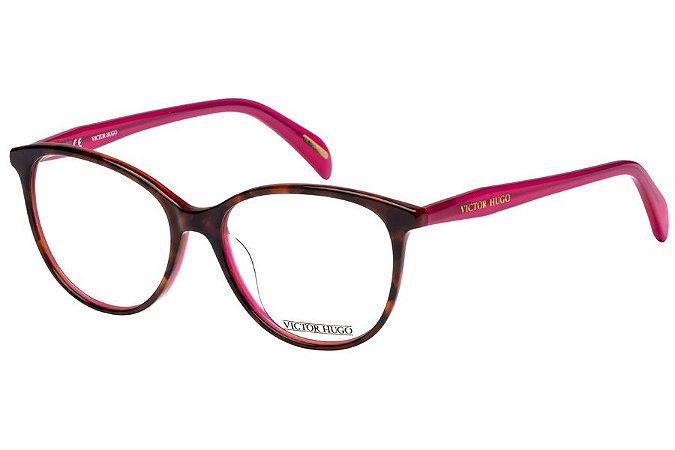Óculos de Grau Victor Hugo VH1754 0AHL/52 Tartaruga/Rosa