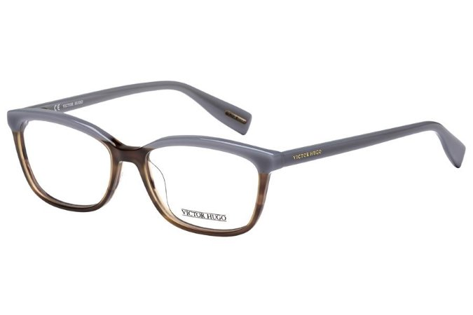 Óculos de Grau Victor Hugo VH1753 01BA/53 Marrom Mesclado/Cinza