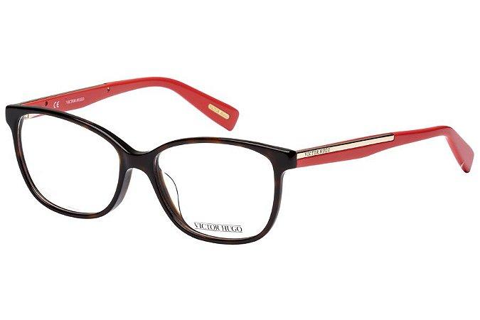 Óculos de Grau Victor Hugo VH1735 01AY/54 Tartaruga/Vermelho
