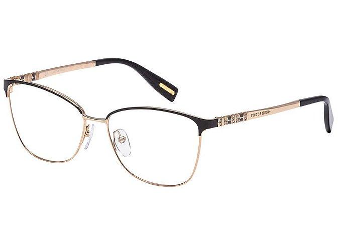 Óculos de Grau Victor Hugo VH1263S 391/55 Preto/Dourado