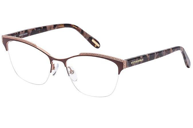 Óculos de Grau Victor Hugo VH1262S SA8M/53 Marrom