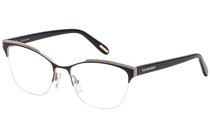 Óculos de Grau Victor Hugo VH1262S 0SR1/53 Preto