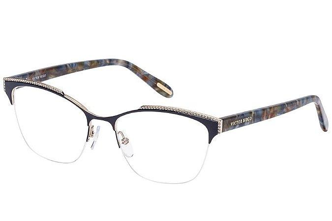 Óculos de Grau Victor Hugo VH1262S 08M6/53 Azul